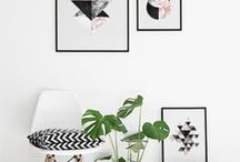 W A L L A R T / Wall art, gallery walls, prints, gold lettering, DIY projects + free printables.