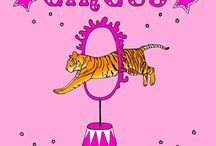 Circus / Circus is fun and colorful. Here is a bunch of illustrations and drawing about the circus, tamer, illusionist, dancer, horses, lion