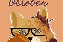 Kitty the cat / Illustrations and drawings about cat