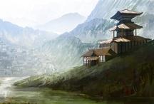 Cachorros Samurais / Painel para inspirar aventuras do jogo.