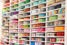 Art studio / Art and crafting room decorating and organizing ideas / by Bree Tetz