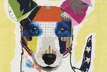 Bow Wow Art / Ilustrações fofas de cães. / by Forpetlovers