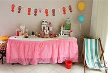 Anniversaire Coquillages & Crustacés / Birthday children sea beach and flip flop