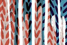 Surface pattern - Sarah Bagshaw / https://www.facebook.com/SarahBagshawSurfacePattern  / by Sarah Bagshaw Surface Pattern Design