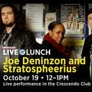 Joe Deninzon & Stratospheerius / One of the coolest electric violinists ever, Joe Deninzon sings and leads the band Stratospheerius, and is the world's expert on alternative electric violin.  Read his book, PLUGGING IN on Mel Bay and hear him & his band Stratospheerius on THE NEXT WORLD.  http://www.stratospheerius.com