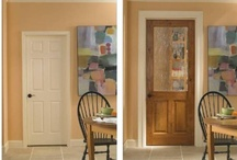 Transformations! - Before and After shots / What a difference A TruStile Door Makes! We have transformed the door into a critical design element that opens up the possibilities for complete coordination.