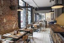 Interieur Restaurants en Bars / Cool restaurant and bar interiors.  www.danielleverhelst.nl