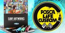 POSCA LIFE CUSTOM / POSCA LIFE CUSTOM is dedicated to all amateurs and professionals of the customisation of fusional objects as works of art (skate, surf and snow boards, bikes, sc ooters, etc.). It's a land of creativity where board sports fanatics meet with the freedom and thrills of street culture. See more http://www.posca-life-custom.com #posca