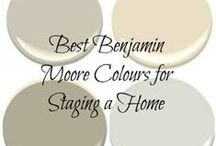 The Best Benjamin Moore Paint Colours and Color Ideas / The best Benjamin Moore Paint Colours.  How to pick the best color for your home and the specific needs of your room, whether you have a fireplace, wood cabinets or flooring or furniture that is tricky to coordinate with.