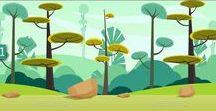 Sprites e Landscapes / Exemplos de sprites, ambiente e personagens para games