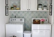 Laundry Room Love / Laundry room decor, layout, organization and update ideas
