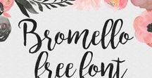 Fonts and Printables / Free fonts, pretty fonts, boho fonts, wedding fonts, the best fonts!