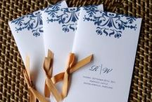 Paper Goods / Invitations, programs, and more!