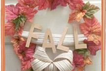Fall Home Decoration Ideas / Inspired to create a fall themed home, tablescape, wreath to bring warmth into your home.  Take a peek at these DIY, arts and crafts and compilation of beautiful fall ideas.