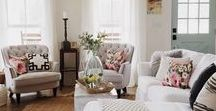 Decor: Living Room Inspiration / Idea board for a calming, bright and chic living room.