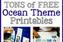 Ocean Theme / Ocean theme ideas, printables and crafts