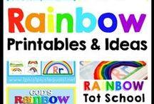 Rainbow Theme / Rainbow theme ideas for kids!