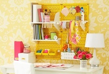 Craft rooms  / by Jaime from Crafty Scrappy Happy