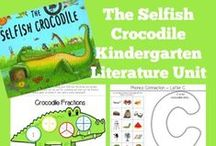 Kindergarten Literature Unit Ideas ~ The Selfish Crocodile / Printables, Crafts, and ideas for Kindergartners all centered around the book, The Selfish Crocodile.