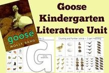 Kindergarten Literature Unit Ideas ~ Goose / Printables, Crafts, and ideas for Kindergartners all centered around the book, Goose.