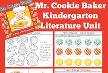 Kindergarten Literature Unit ~ Mr. Cookie Baker / Printables, Crafts, and ideas for Kindergartners all centered around the book, Mr. Cookie Baker.