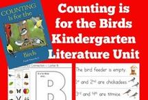 Kindergarten Literature Unit ~ Counting is for the Birds