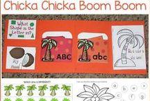Chicka Chicka Boom Boom Theme / Fun theme ideas all centered around the book: Chicka Chicka Boom Boom!