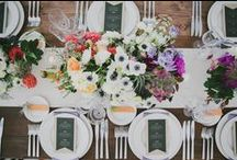 Wedding Tablescapes / Wedding tablescape, reception decor and place setting ideas and inspiration