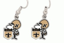 Saints Jewelry  / Some Saints-themed jewelry! Check out more at http://www.neworleanssaintsteamshop.com / by New Orleans Saints