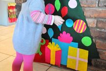 Christmas   Felt / Why get tree needles everywhere when you could have a felt Christmas Tree...