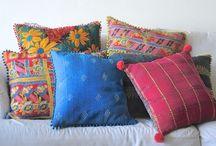 Cushion Covers in Vintage Fabric / Handmade,Vintage  #KanthaCushion Covers in myriad of prints and colors by kinche.com