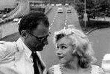 Arthur Miller & Marilyn Monroe ♥ ❤ ♥ ❤ / ❥They were married from 1956-1961.  He was 11 years older than she was. She died in 1962 ... she was 36, and he died in 2005 ... he was 89. ❥ / by Zoey Hardy