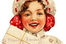 Christmas & New Year's - Ephemera / Christmas and winter vintage photos, printables, clipart, sentiments. New Year's