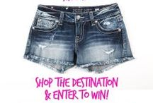Spring Break! / Fill your suitcase with #MissMeJeans! Enter to win our Spring Break Style Guide contest to win 1 of the 4 destination looks throughout the week! Instagram a photo of your suitcase with the caption, 'I want @MissMeJeans to pack my suitcase for #MissMeSB!' for a chance to win! xox http://mymiss.me/springbreak / by Miss Me