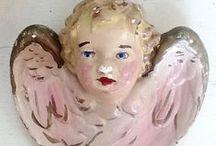 "Angels / Angels, angel wings, victorian scrap angels, vintage photo angels. Cemetery angels are on my board, ""Dead Art"""