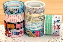 Crafty - Washi Tape Fetish / Love tissue tape, patterned masking tape, washi tape