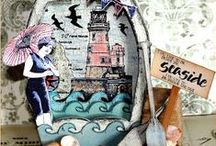 Cards Etc. - Seaworthy / Nautical themed cards, tags, ATC's. Graphic 45 nautical themed cards, tags on it's own board.