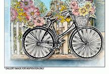 Cards Etc. - Bikes / Cards, tags, ATC's, with bicycles! Love the inspiration!