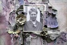 Artist - Nkaigle / Beautiful vintage, heritage layouts! I discovered her on Scrapbook.com Her name is Natalie http://www.scrapbook.com/profiles/561881.html