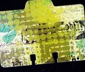 Altered States - Rolodex, Clip Carousels, Library Drawers, Index card art / Scrapodex. I bought an old rolodex today at Value Village (local second hand store) for 99 cents. Full of blank cards, never been used. It's just screaming to be papered, blinged, painted, altered!! Looking forward to altering it! Love the inspiration! Also pins of vintage library drawers and clip carousels. I have one of each of these too!