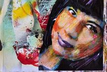 Artist - Dina Wakley / Stamps, products, artwork by Dina Wakley as well as crafters inspiration using Dina's products! http://dinawakley.com