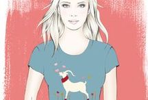 Pasha Cashmere Goat / goats, cashmere, tops, t-shirts, women's tops, water colour paintings,