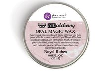 Crafty - Powders and Waxes / Perftect Pearls,  Prima Artisan Powders, embossing powders, waxes, Inks Gold, Metallic Lustre....