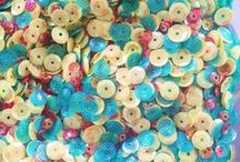 Crafty - Bling, Embellies... / Embellishments, sequins, brads, eyelets, grommets, stickers, Dew Drops, Flat back pearls, storage ideas..