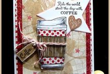 Cards Etc. - Coffee & Tea / Cards, tags, mixed media with coffee and tea
