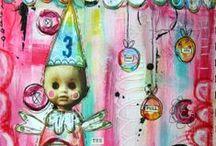 Artist - Kate Crane / Love her mixed media art! Visit:  thekathrynwheel.blogspot.com