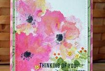 Cards Etc. - Watercolour / Inspirational cards, tags, ATCs, etc. Watercolour tools; pencils, tips, techniques