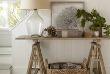 Cottage Farmhouse Style / Decorating home decor living spaces coastal cottage farmhouse / by Megan Harrison Jones