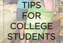 College tips/tricks / Navigating school and savings can be difficult. Here we share tips and tricks that make life easier!