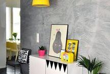 Grey Walls & Block Colour / Home decor, grey, block colour, design, interiors, home decorating